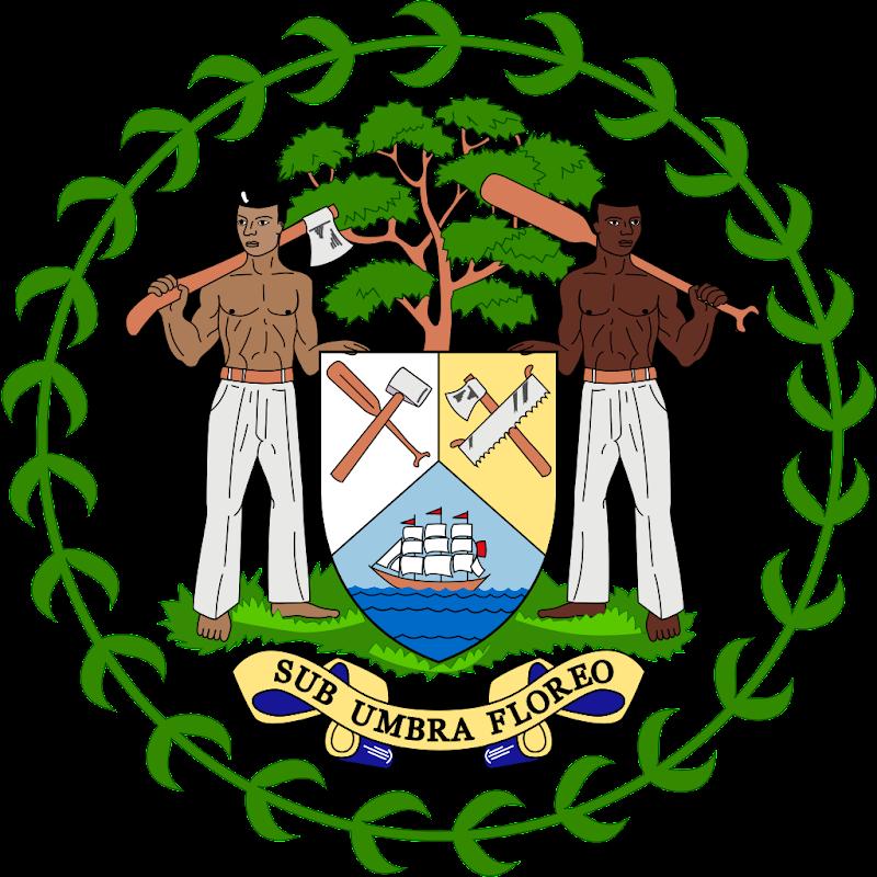 Logo Gambar Lambang Simbol Negara Belize PNG JPG ukuran 800 px