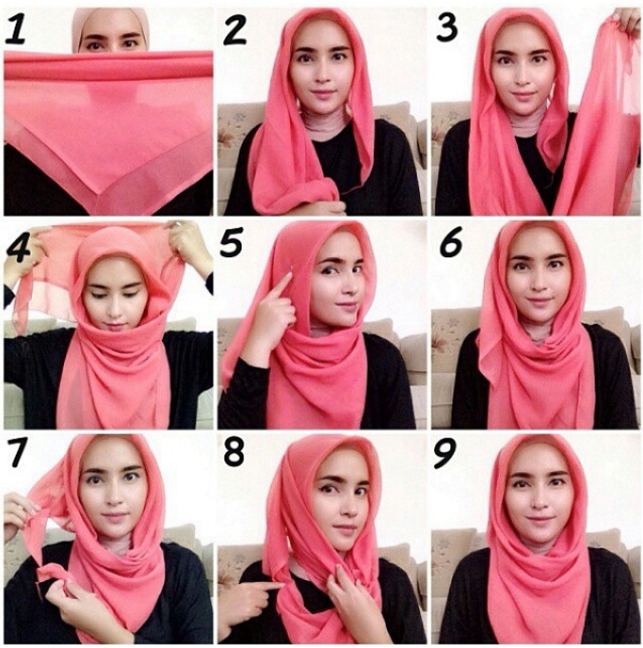 Tutorial Hijab Lebaran Saudia