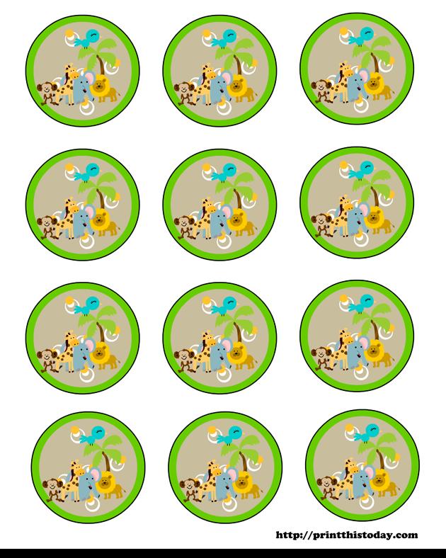 Toppers o Etiquetas de Animalitos Bebés para Imprimir Gratis.