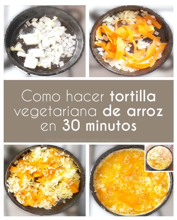 tortilla arroz fototutorial
