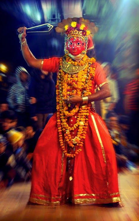 In Nepal there are girls revered as a living goddess or Kumari