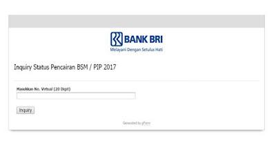 Cara Cek Serta Mengetahui Pencairan BSM/PIP Lewat Inquery Bank BRI