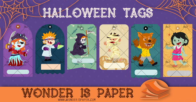 Halloween Tags: Print and Cut.
