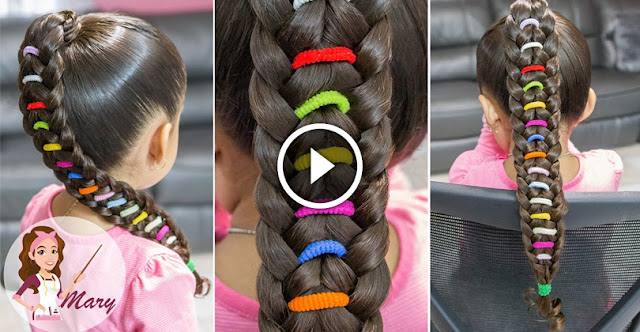 Learn, How To Create Rainbow Braid Hairstyle, See Tutorial