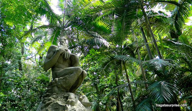 O Fauno, escultura de Victor Brecheret, Parque Trianon, São Paulo