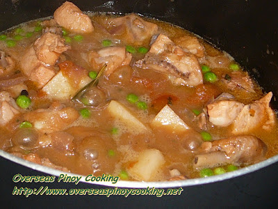 Chicken Sarciado - Cooking Procedure