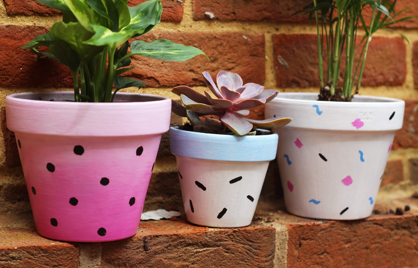 how garden easy to pot up terracotta planter looking painted brighten planters dress spray for these ways cute a try summer crafts