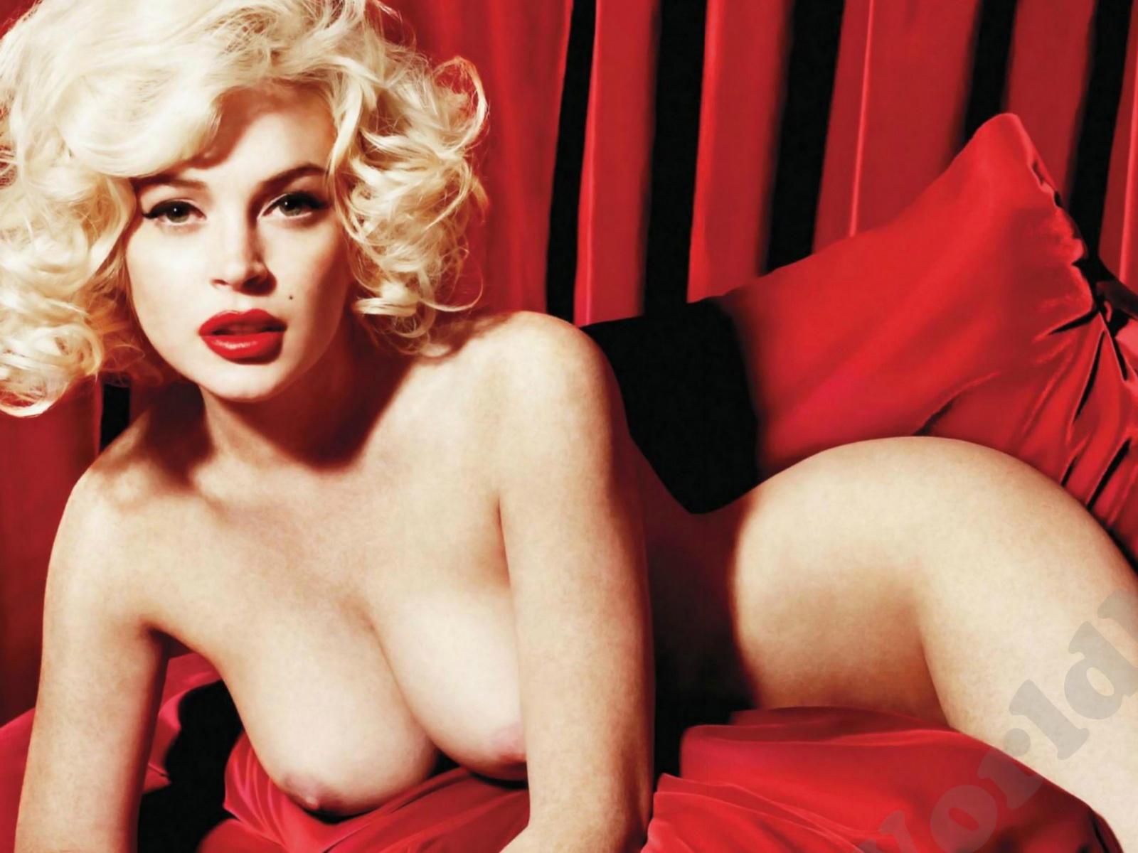 Beauty Celebrity Lindsay Lohan Naked Playboy Magazine -7657