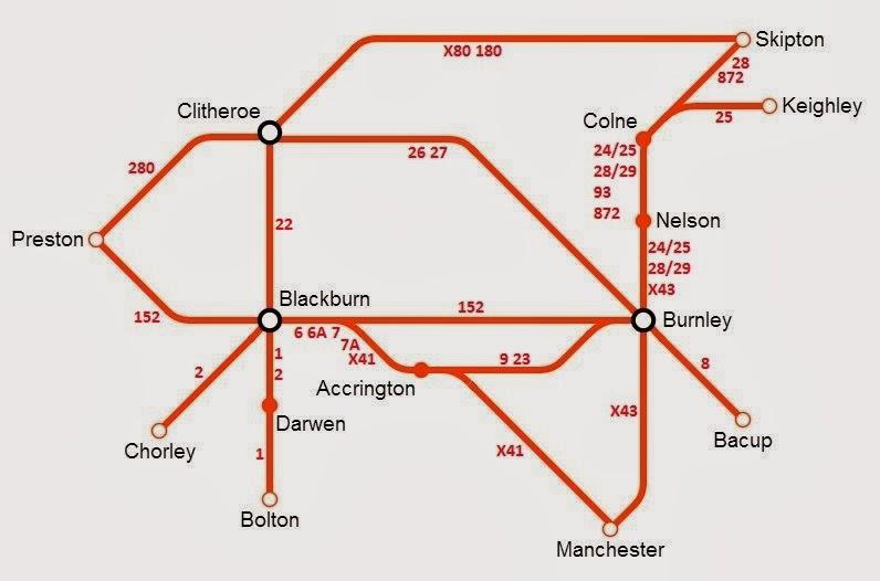 British Bus Bugle  Transdev Lancashire Network Diagram