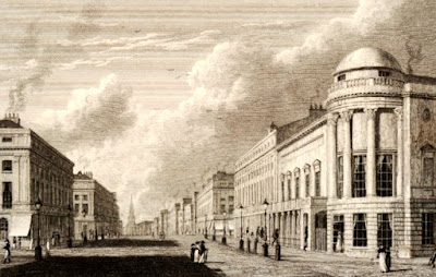 View of Regent Street showing Argyll Concert Room on the right  Print by C Heath after W Westall   Published by Hurst, Robinson & Co (1825) © British Museum