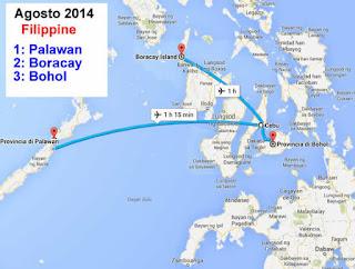 filippine 2014 mappa viaggio
