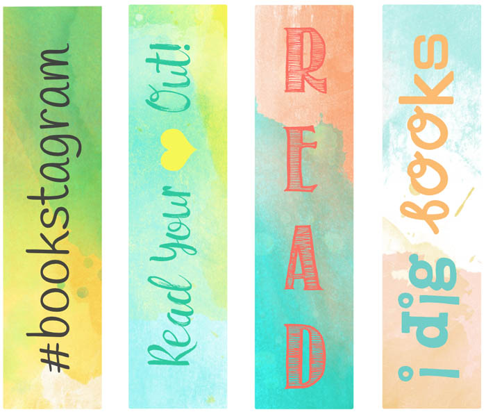 4 free and beautiful summer bookmarks by Grade Onederful