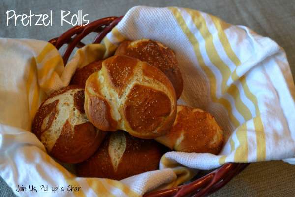 Most Viewed Recipe of the Week | Most Popular: Pretzel Rolls from Join Us, Pull Up a Chair #SecretRecipeClub #recipe #rolls #bread