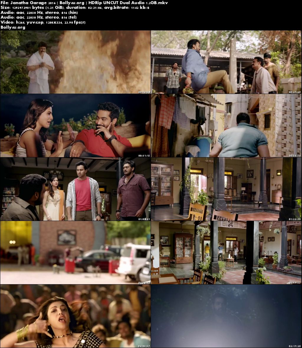 Janatha Garage 2016 HDRip Hindi UNCUT Dual Audio 720p Download