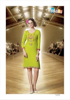 SHOW STOPPER Ridhi Textiles KURTIS KURTA TOPS WHOLESALER LOWEST PRICE SURAT GUJARAT