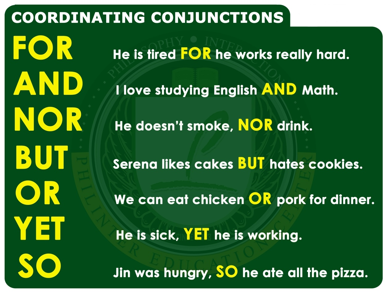 Coordinating Conjunctions - English Grammar A To Z