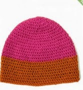 http://www.yarnspirations.com/patterns/dipped-striped-crochet-hat.html