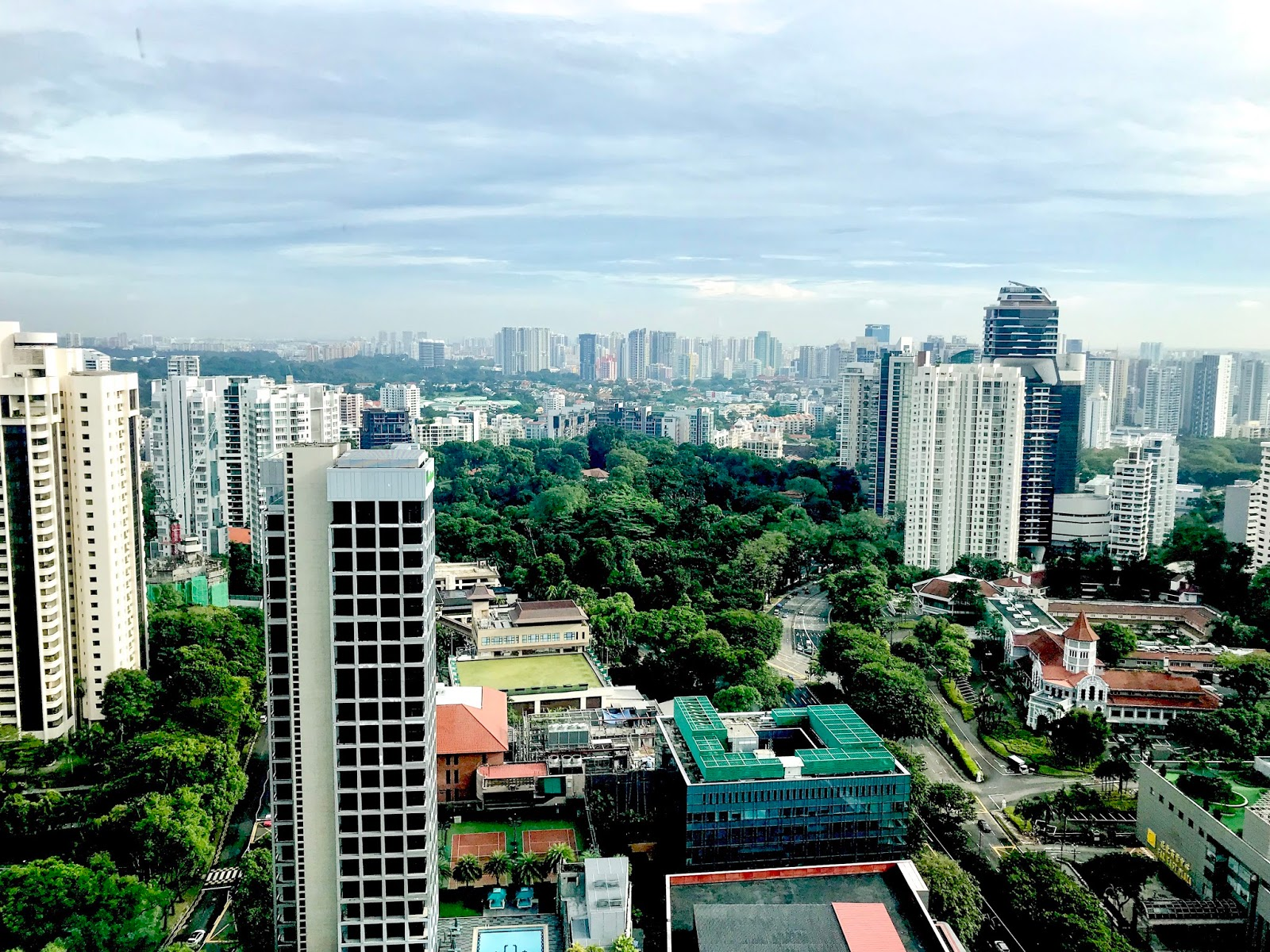 views from yotel singapore
