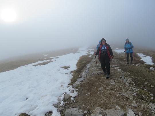Zejście z Małołączniaka na Małołącką Przełęcz.