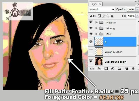 proses tracing wajah vector menggunakan photoshop - tutorial membuat vector di photoshop - membuat foto menjadi kartun dengan photoshop