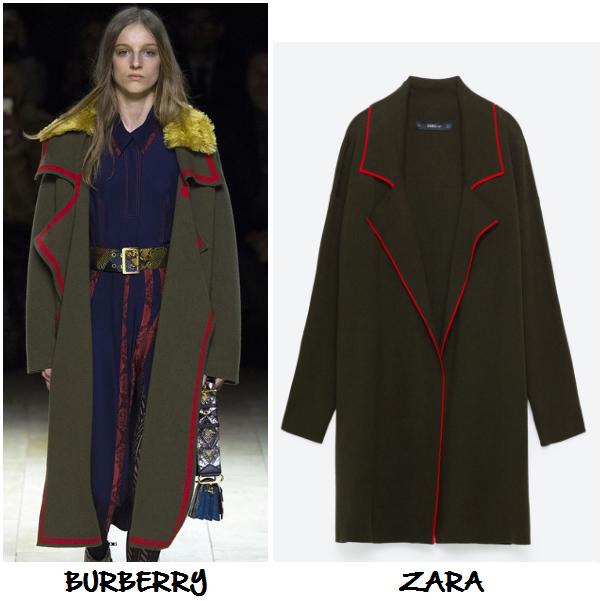 clones 2016 abrigo verde militar burberry zara
