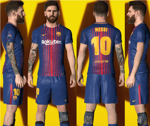Lionel Messi Face Update With Tattoo PES 2017