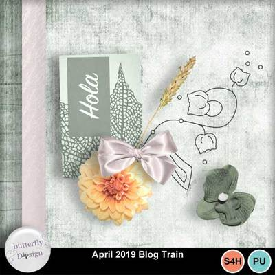 Blog train at My memories Shop (April)