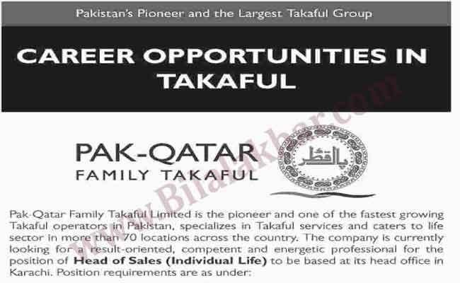 Career Opportunities in Pak Qatar Family Takaful