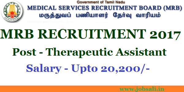 Tamil Nadu Medical Council, MRB Notification 2017, Govt jobs in Tamilnadu