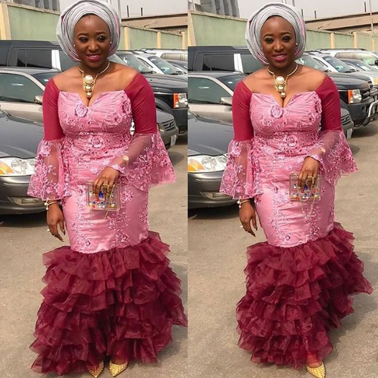 Latest Aso Ebi Gown Lace Styles For Ladies Owambe
