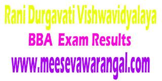 Rani Durgavati Vishwavidyalaya BBA 1st Sem- 2016 Exam Results