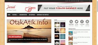 Contoh gambar Template yang sudah menyisipkan space iklan
