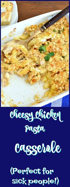 Cheesy Chicken Pasta Casserole www.thisishowicook.com #casserole #chicken