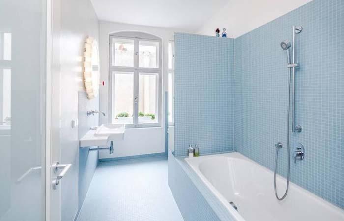aqua rengi banyo tasarımı