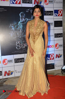Actress Sai Dhansika Pictures in Long Dress at Kaabali Auido Launch  0120.JPG