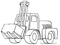 Mewarnai Kendaraan Konstruksi Gambar Excavator Forklift Mobil Crane Alat Berat