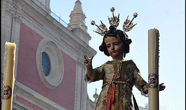 Horario e Itinerario de El Niño Jesús del Valle hoy día 2 en Sevilla