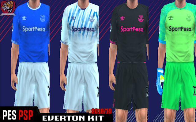 newest a3c82 5f12c Everton FC 18/19 Kits PES PSP (PPSSPP)