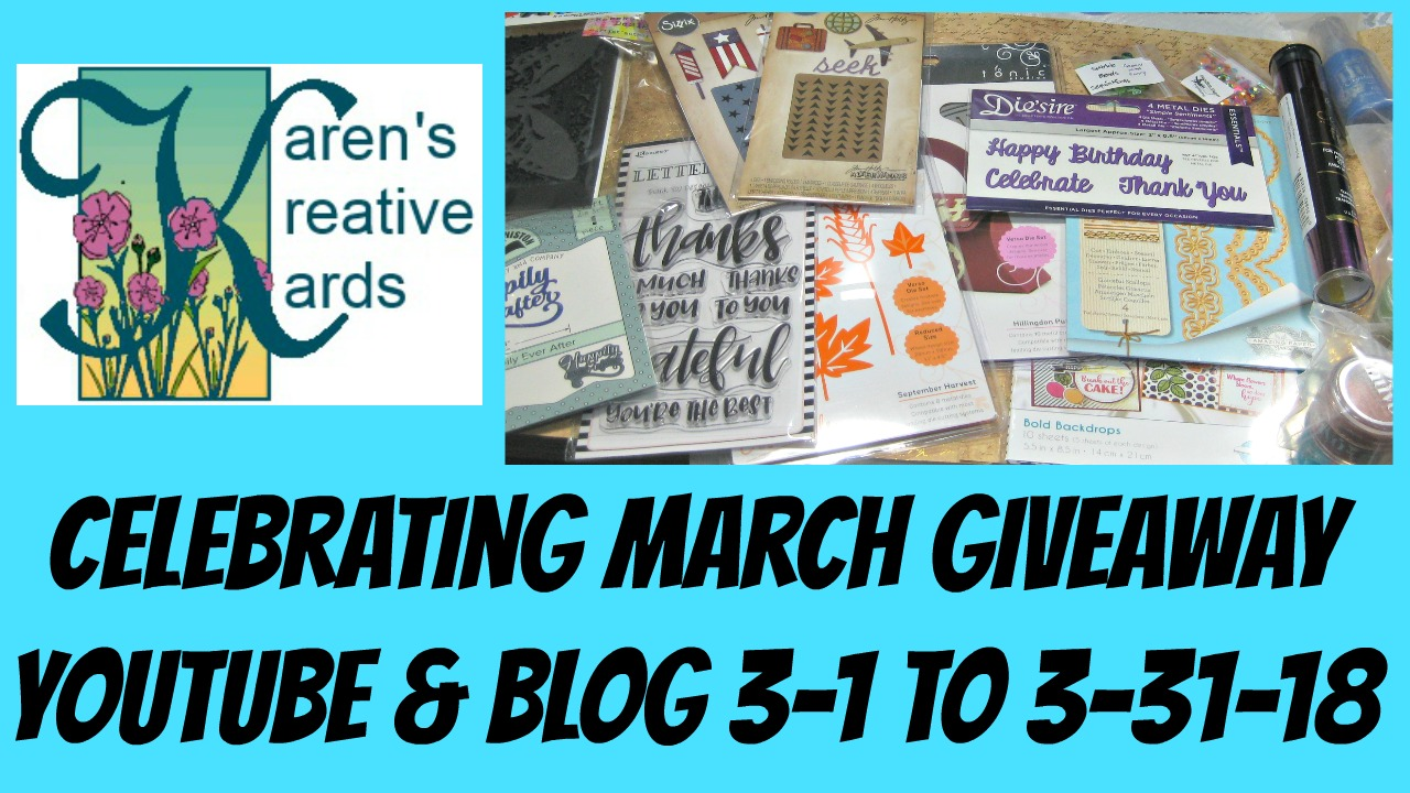 CELEBRATING MARCH GIVEAWAY!
