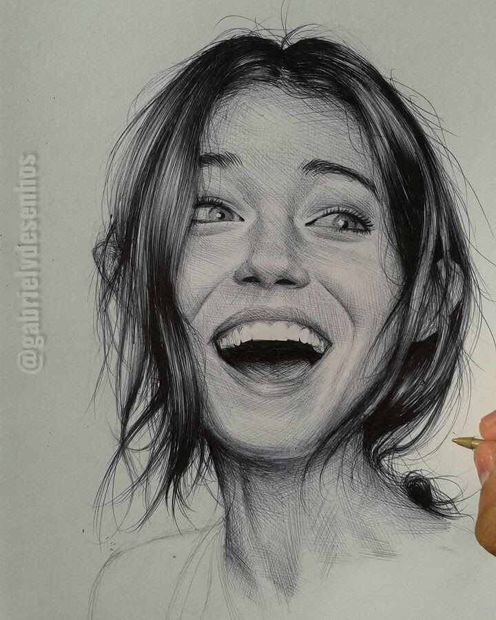 05-Surprise-Incredulity-Gabriel-Vinícius-Expressions-in-Ballpoint-Pen-Portraits-www-designstack-co