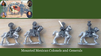 Mounted Mexican Colonels & Generals