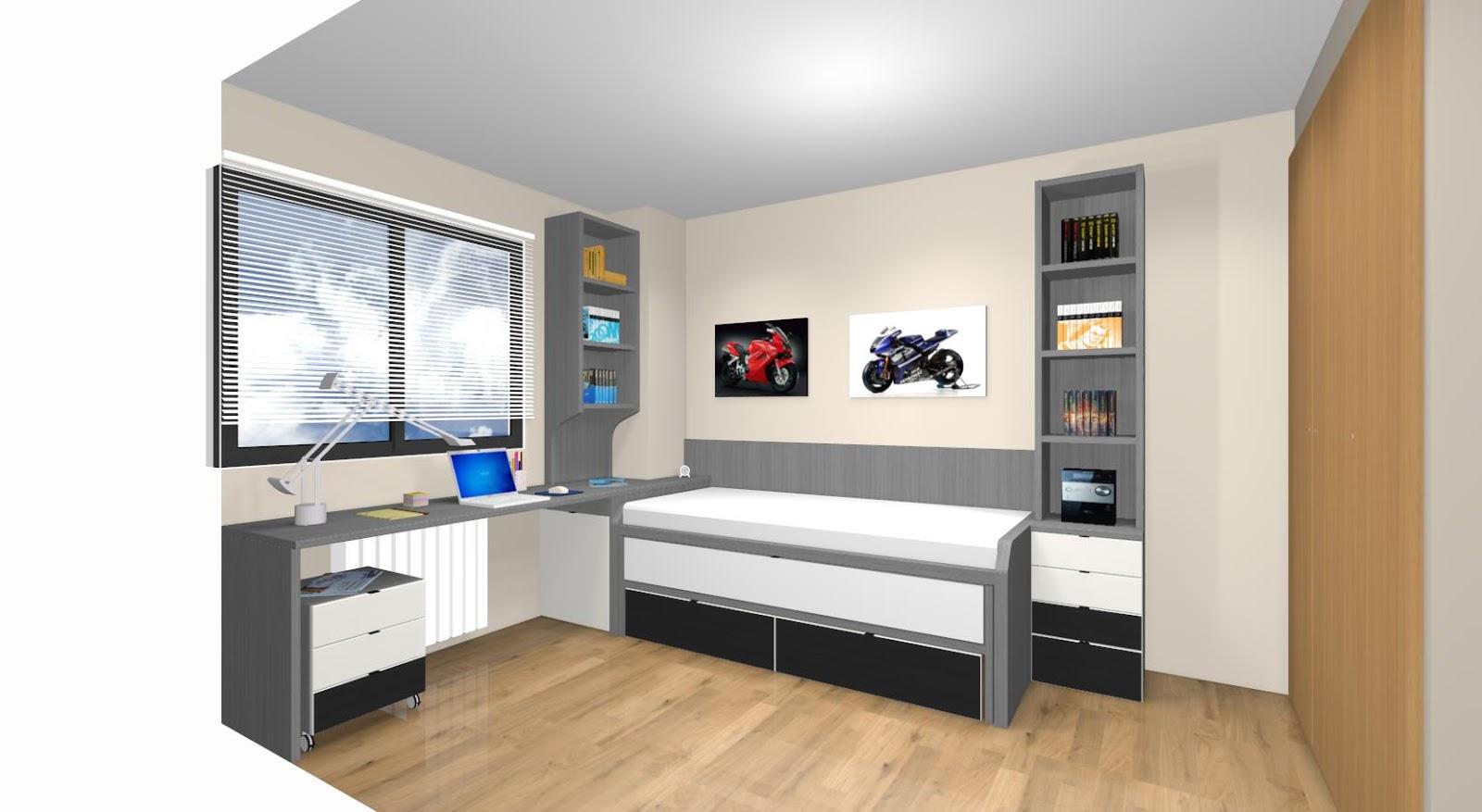 Dormitorios juveniles a medida con cama compacto - Dormitorios infantiles madrid ...