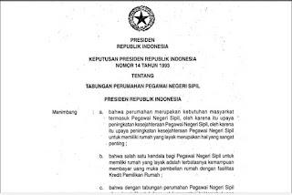 Kepres No 14 Tahun 1993 Tentang Bapertarum PNS