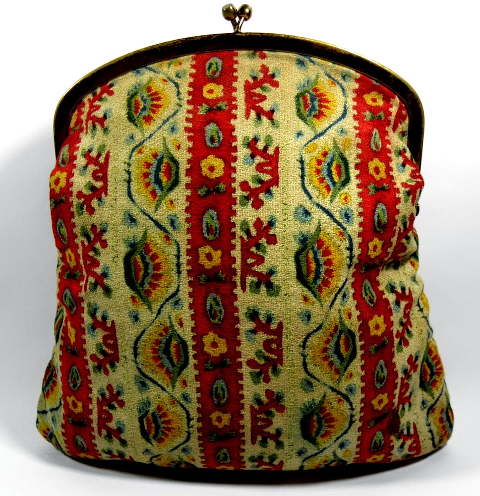 Mel Tom Vintage Tapestry Clutch Bag