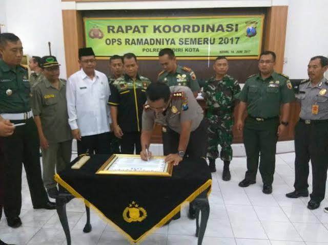 Komitmen Kediri Nyaman Dan Tentram Dalam Operasi Ramadniya Semeru