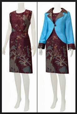 Model baju batik kerja wanita terbaru