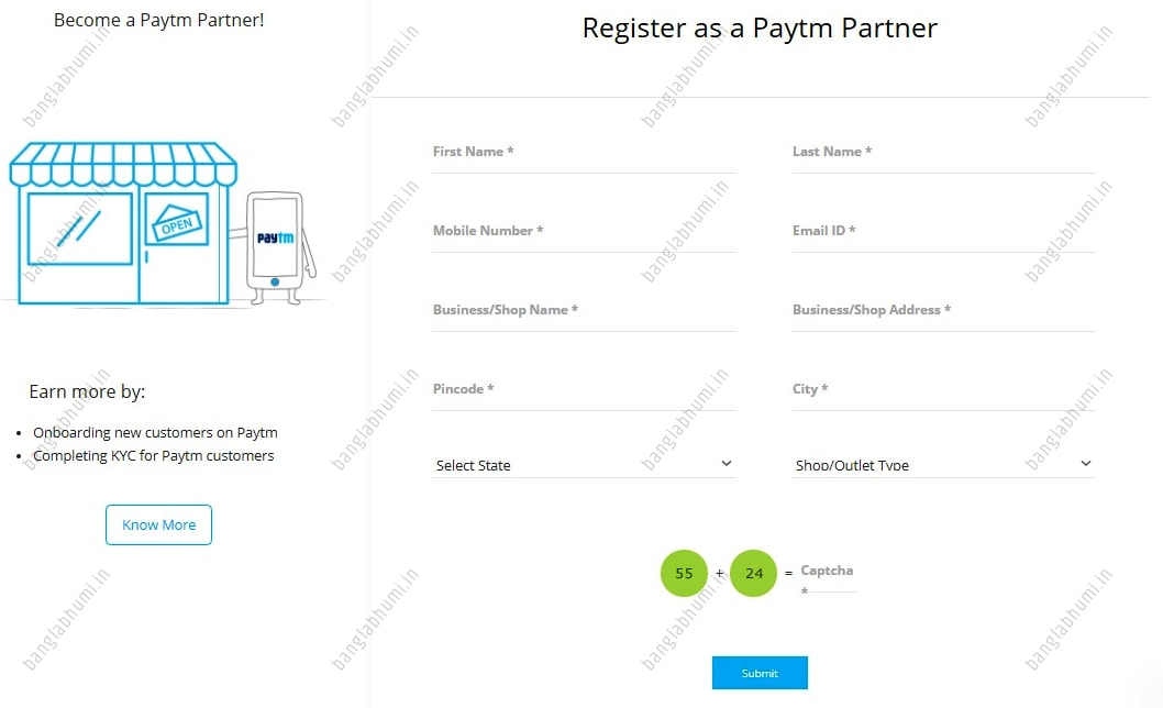 paytm partner registration online