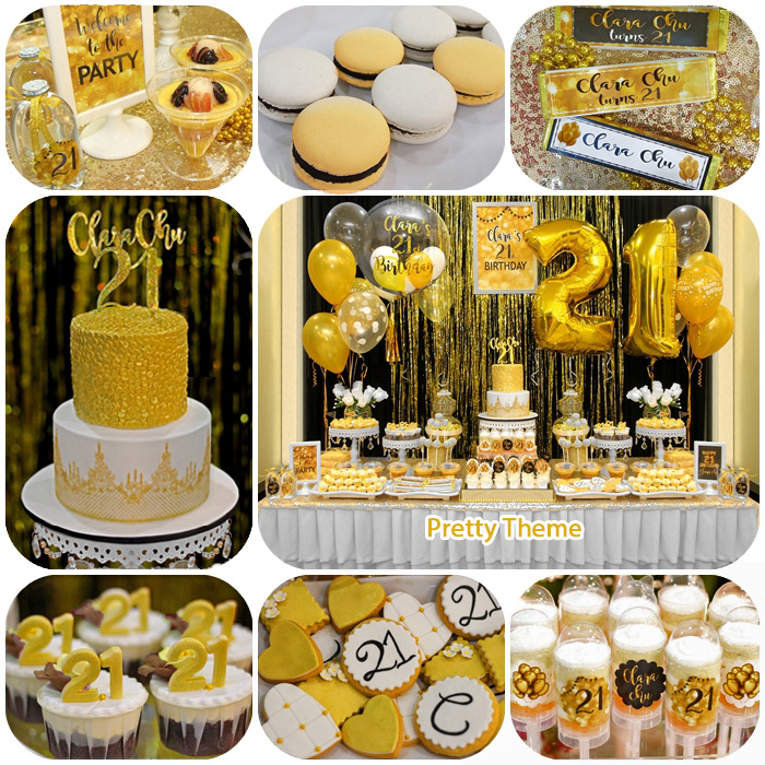 Birthday Party Buffet Table: Pretty Theme Event Planner: Adult Birthday Bash
