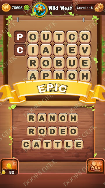 Word Bright Level 118 Answers, Cheats, Solutions, Walkthrough for android, iphone, ipad and ipod
