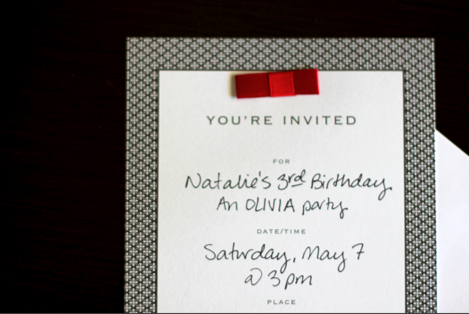 Create At Home Olivia Party Decorations Invites And
